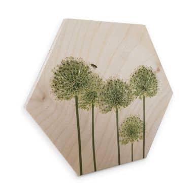 Esagoni in legno Kadam - Bianco