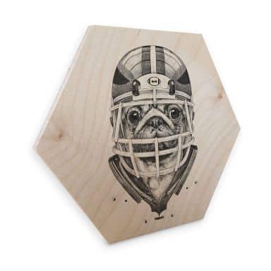 Hexagon - Birch veneer Kools - American Pug Football