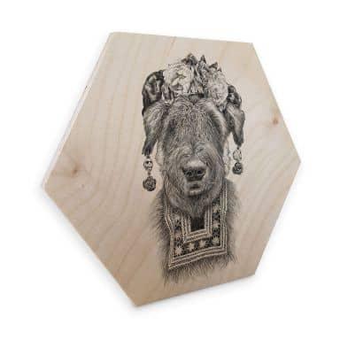 Hexagon - Holz Birke-Furnier Kools - Suusi Kahlo