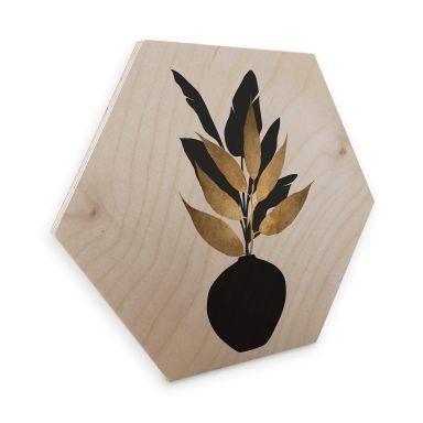 Hexagon - Holz Birke-Furnier Kubistika - Bouquet No. 5