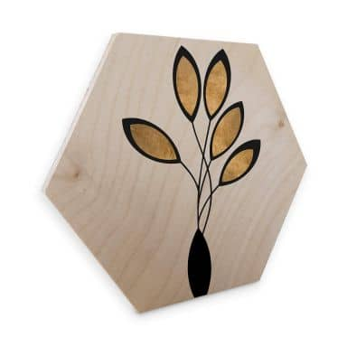 Hexagon - Holz Birke-Furnier Kubistika - Cinco