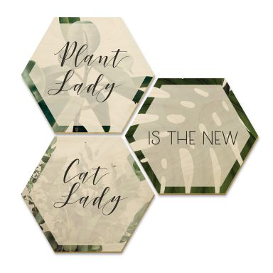 Hexagon Wood - Plant Lady
