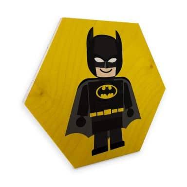 Hexagon - Holz Birke-Furnier Gomes - Batman Spielzeug