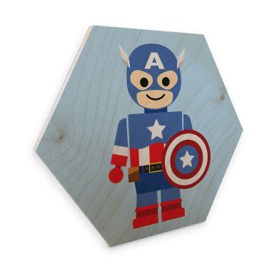 Hexagon Wood - Gomes - Captain America toy