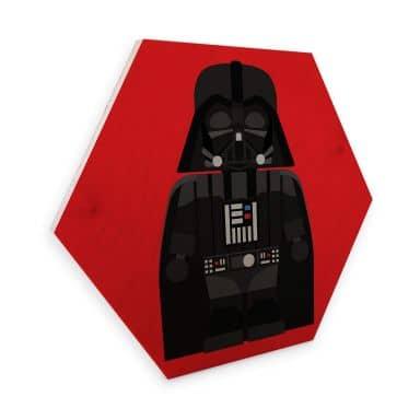 Hexagon - Holz Birke-Furnier Gomes - Darth Vader Spielzeug