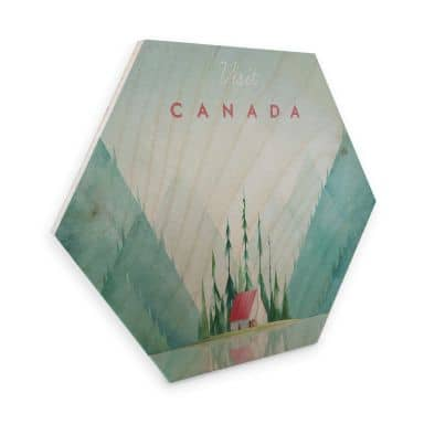 Hexagon - Holz Birke-Furnier Rivers - Kanada