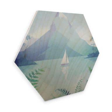 Hexagon - Holz Birke-Furnier Rivers - Neuseeland