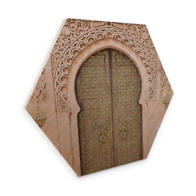 Hexagon - Holz Birke-Furnier Sisi & Seb - Moroccan Door