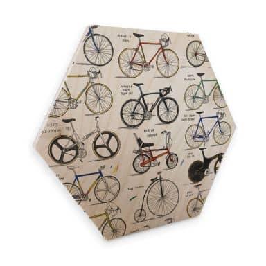 Hexagon - Holz Birke-Furnier Sparshott - Fahrräder