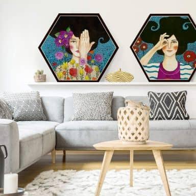 Hexagone - Placage bois de bouleau - Hülya -  Perdre ses souvenirs
