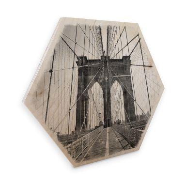 Hexagon Birch veneer - Brooklyn Bridge