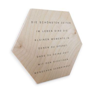 Hexagon - Holz Birke-Furnier - Die schönsten Zeiten