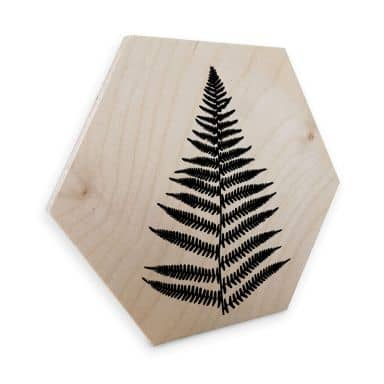 Esagoni in legno – Felce