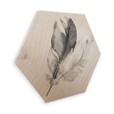 Esagoni in legno – Piuma
