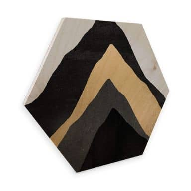 Hexagon - Holz Birke-Furnier - Fredriksson - Vier Berge