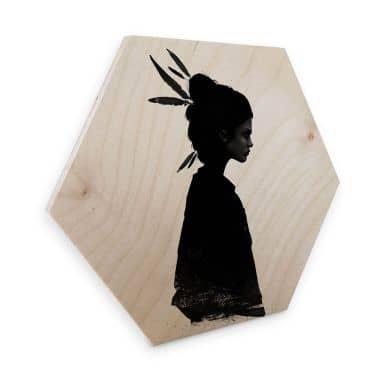 Hexagon - Holz Birke-Furnier - Ireland - Never Never