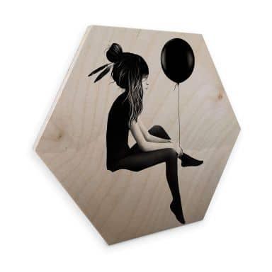 Hexagon - Holz Birke-Furnier - Ireland - No such thing as nothing - Ballon