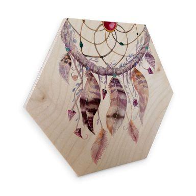 Hexagon - Holz Birke-Furnier - Kvilis - Traumfänger