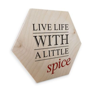 Hexagon Birch veneer - Live Life
