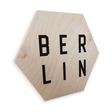 Hexagon wood - Typography Berlin