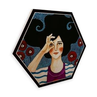 Hexagon - Holz Birke-Furnier - Hülya - Moment des Trostes