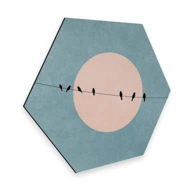 Hexagon alu dibond - Kubistika - Beauty of Silence