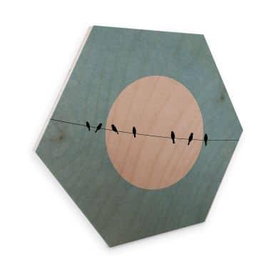 Hexagon wood - Kubistika - Beauty of Silence
