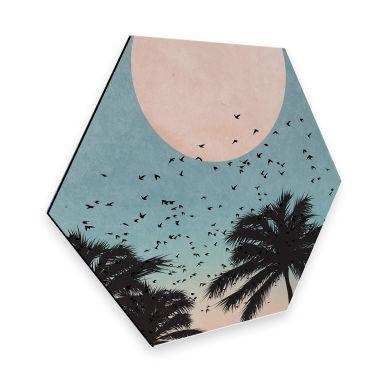 Hexagon alu dibond - Kubistika - Sunset