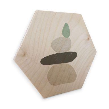 Hexagone - Placage bois de bouleau - Nouveauprints - Pebbles 3