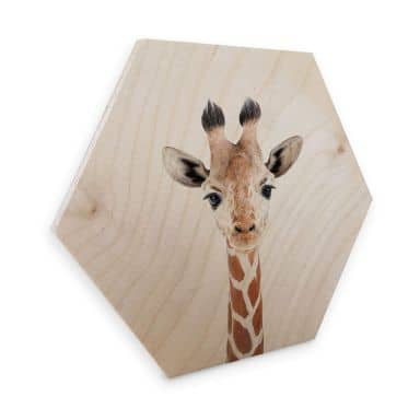 Hexagon - Holz Sisi & Seb - Baby Giraffe