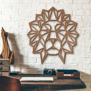 Wooden Lion Head – mahogany