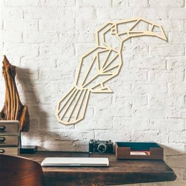 Holzkunst Pappel - Origami Tukan