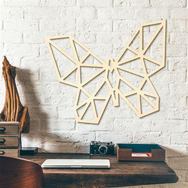 Decoro in legno origami - Farfalla
