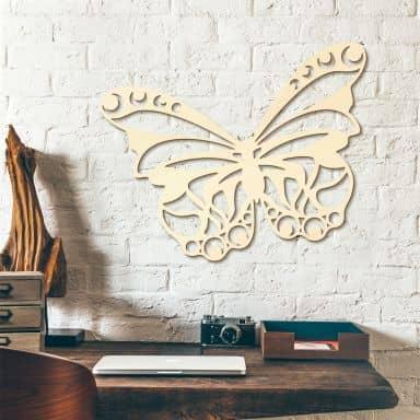 Holzkunst Pappel - Schmetterling