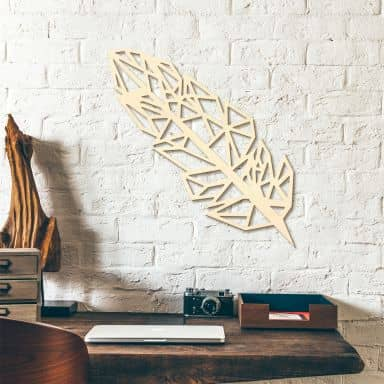 Holzdeko Pappel - Origami Feder