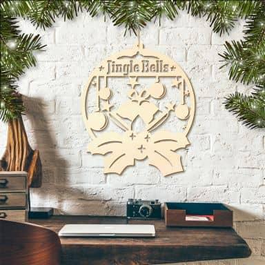 Holzkunst Pappel - Jingle Bells