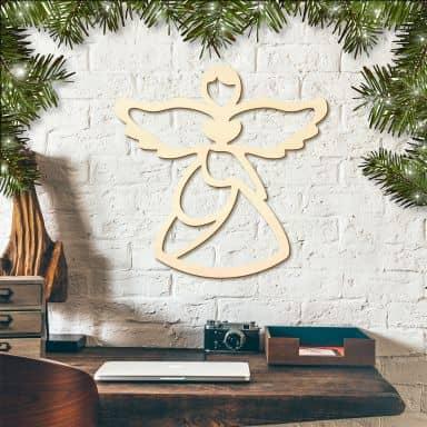 Holzkunst Pappel - Angel