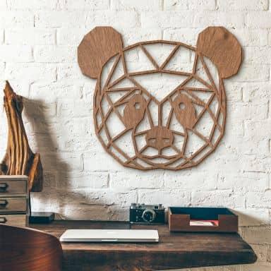 Panda bear – mahogany wood