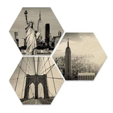 Hexagon Wood - New York