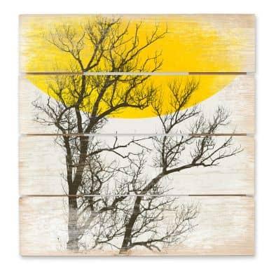 Holzbild Kubistika - Herbst-Erinnerungen