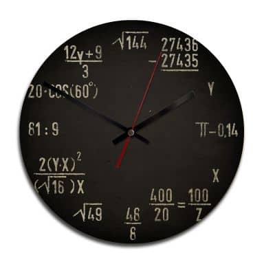 Horloge murale en bois - Formules