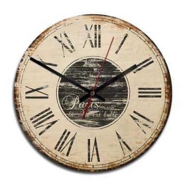 Orologio in legno - La vie est belle