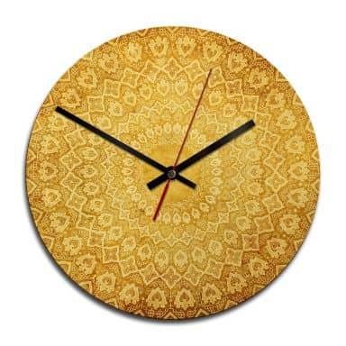 Horloge murale en bois - Ornement venant d'Occident