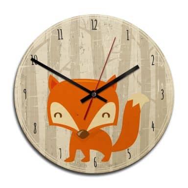 Orologio in legno - Fox o'clock