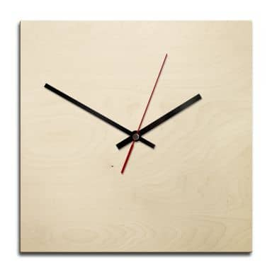 Wooden clock – blank – square