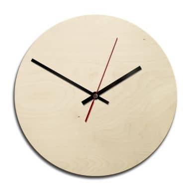 Wooden clock – blank – round