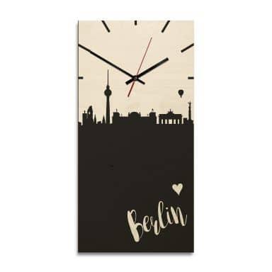 Wooden clock – Berlin – rectangle