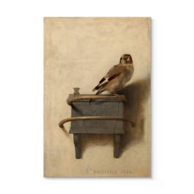 Holzposter Fabritius - Der Distelfink