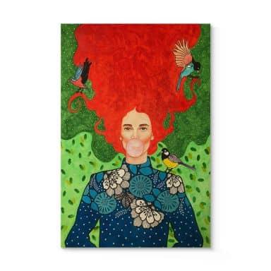 Holzbild Hülya - Warum ich das Chaos liebe