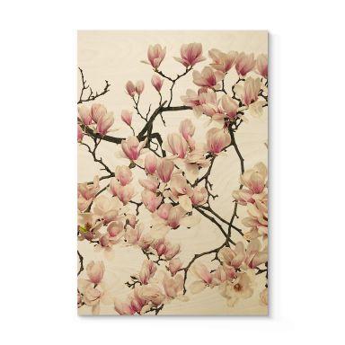 Holzposter Kadam - Flora Magnolia